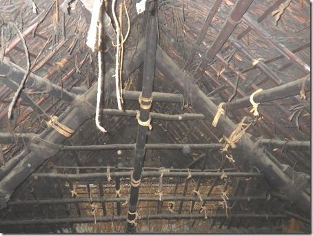 現況:扠首組の屋根